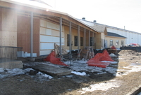 Addition of new community centre to existing curling rink in DeBolt, Alberta