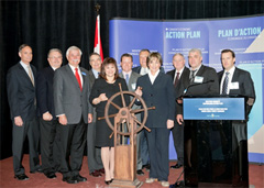 Photo of Minister Yelich with key stakeholders at the Symposium.