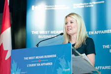 Minister Rempel announces the Western Innovation (WINN) Initiative.