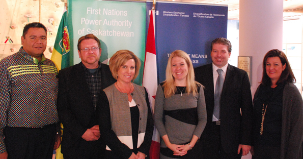 Minister Rempel at the First Nations Power Authority funding announcement.