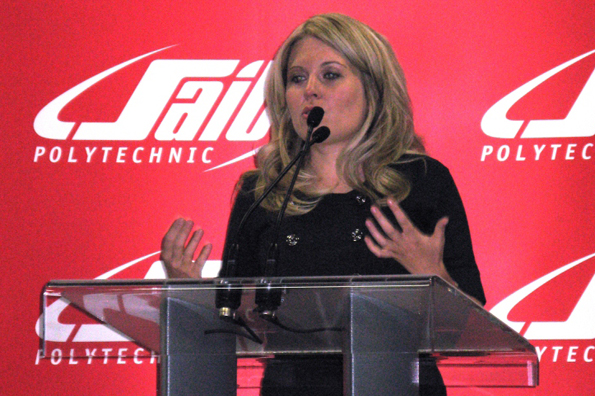 Minister Rempel and MP Blake Richards participate in the SAIT-AIM Centre for Innovation grand opening.