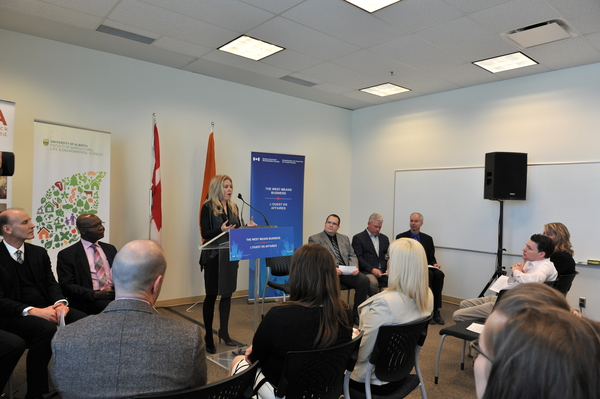 Minister Rempel attended the federal funding announcement of the University of Alberta's establishment of its Animal Nutrition and Ingredient Development Program.