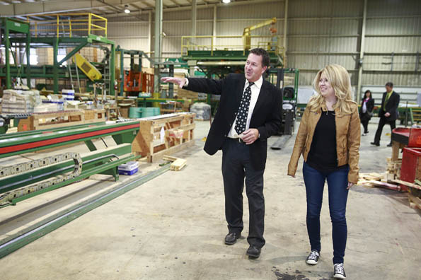 Minister Rempel attends the federal funding announcement for the BC Wood Specialties Group Association.