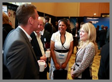 Minister Rempel meets with participants at the Western Innovation Forum.