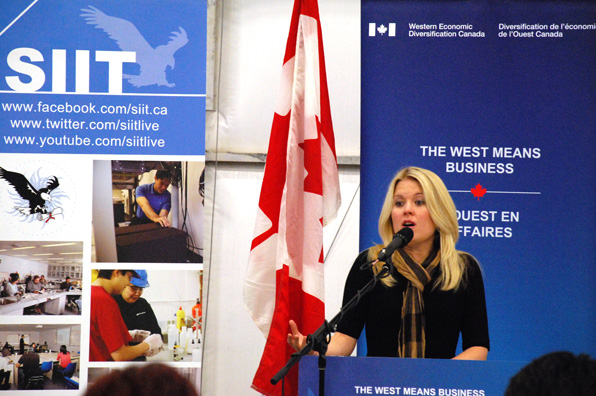 The Honourable Michelle Rempel announces funding for Saskatchewan Indian Institute of Technologies' Aircraft Maintenance Engineering Program (SIIT - AME) on October 3, 2014.