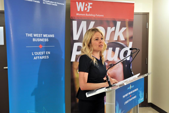 The Honourable Michelle Rempel, Minister of State for Western Economic Diversification, announces an investment of $996,942 to enable Women Building Futures (WBF)