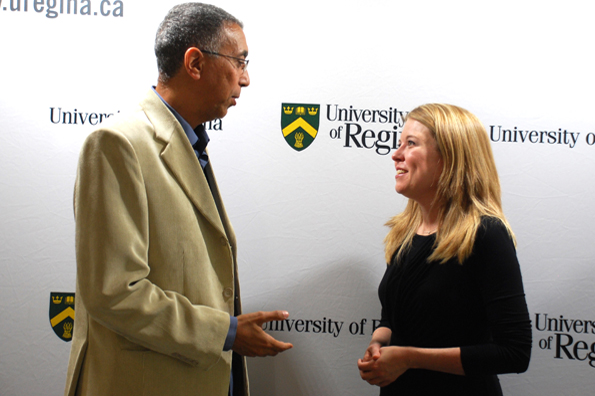 The Honourable Michelle Rempel, Minister of State for Western Economic Diversification, announced $2.3 million for the Collaborative Centre of Justice and Safety (CCJS) at the University of Regina.