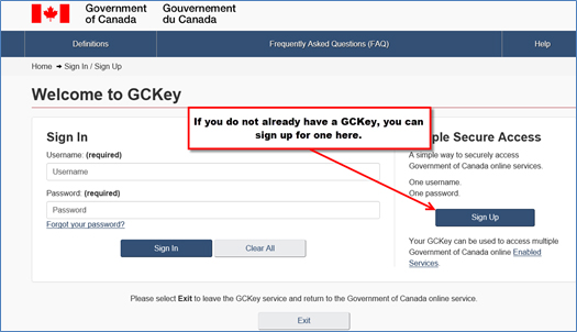 Using A Gckey To Access A Saved Application Form