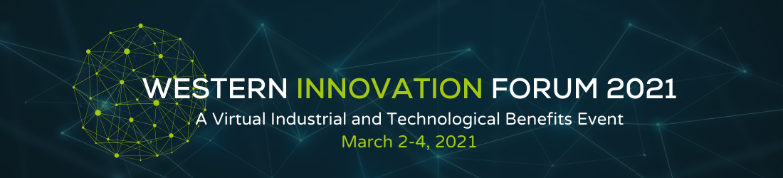 logo for Western Innovation Forum; March 2-4, 2021